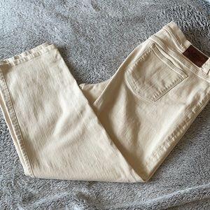 Lauren Ralph Lauren Cream Colored Jeans